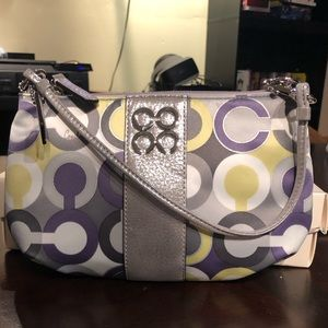 Coach large wristlet/ small bag